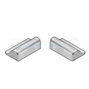 Bohle BK6907331 eindekappen voor lekdorpel gepolijst aluminium 15 x 9 mm - set van 1x links en 1x rechts