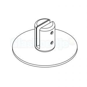 Bohle Vetroscreen 5200195 mat wit (RAL9010), vrijstaande voet voor preventiescherm / coronascherm / kuchscherm - lijntekening