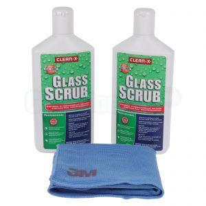 Clean-X Glass Scrub (reinigingspasta) set met 3M High Performance doekje