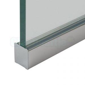 Droogbeglazingsprofiel gepolijst aluminium 19x16,4x19 mm 19x16,4x19 mm