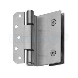 Glasdeur scharnier voor stompe deur, geborsteld RVS (61LAN07) voor 8-10-12 mm glas