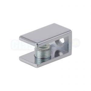 Glasplaatdrager 16x16x27 - afwerking glans chroom