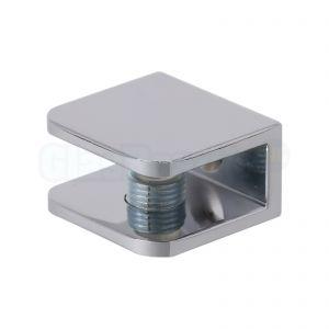 Glasplaatdrager 30 x 27 x 16 mm - afwerking glans chroom