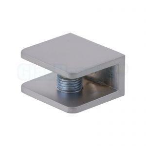 Glasplaatdrager 30x27x16, afwerking aluminium effect (mat)