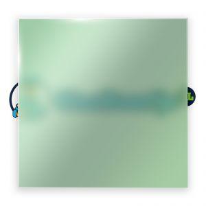 Groen satijnglas 8 mm
