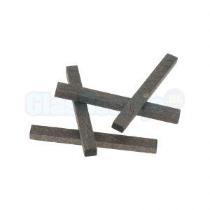 Houten vulblokjes voor spiegelprofiel 6 mm, verpakt per 4 stuks of 100 stuks