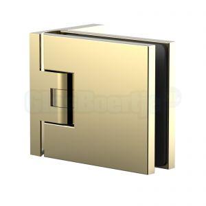 Pauli+Sohn Flamea+ 8130ZNPVD20 douchedeurscharnier met enkelvoudige montageplaat, glanzend goud - aanzicht
