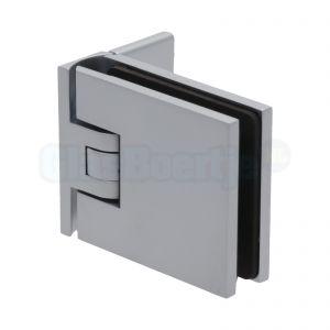 Pauli+Sohn Flamea 8180ZN1 douchedeurscharnier met enkelvoudige montageplaat, matchroom - aanzicht
