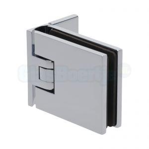 Pauli+Sohn Flamea 8180ZN5 douchedeurscharnier met enkelvoudige montageplaat, chroom - aanzicht