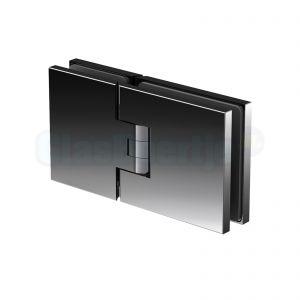 Pauli Sohn Flamea+ douchedeurscharnier 8132 ZNPVD36 glas-glas, 180 graden (glanzend zwart)