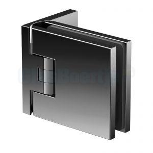 Pauli+Sohn Flamea+ 8130ZNPVD36 douchedeurscharnier met enkelvoudige montageplaat, glanzend zwart - aanzicht