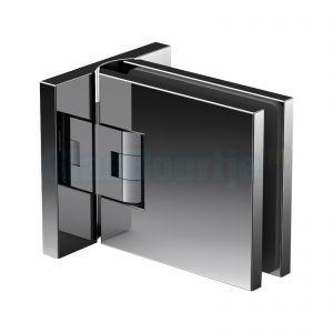Pauli+Sohn Flamea+ 8134ZNPVD36 douchedeurscharnier met dubbelzijdige montageplaat, glanzend zwart – aanzicht