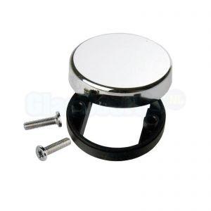 Rond afdekkapje Ø 30 mm voor softclose meubelscharnier, chroom