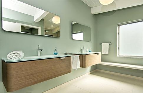 Badkamerspiegel met afgeronde hoeken